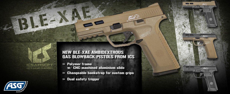 Se de helt nye ICS Gas Pistoler.<br>