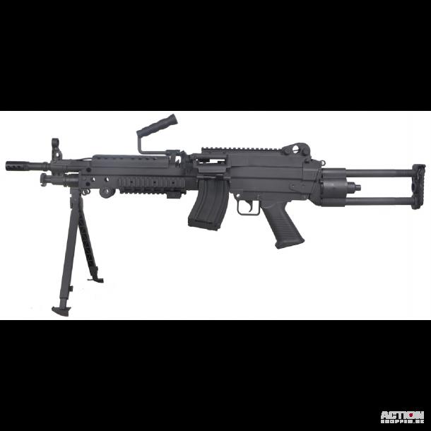 FN Herstal M249, LMG, AEG, Full Nylon fiber, Sort