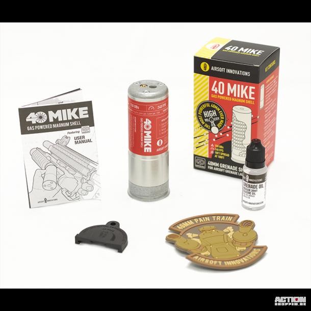 40 Mike Granat fra Airsoft Innovation, 150 skuds.